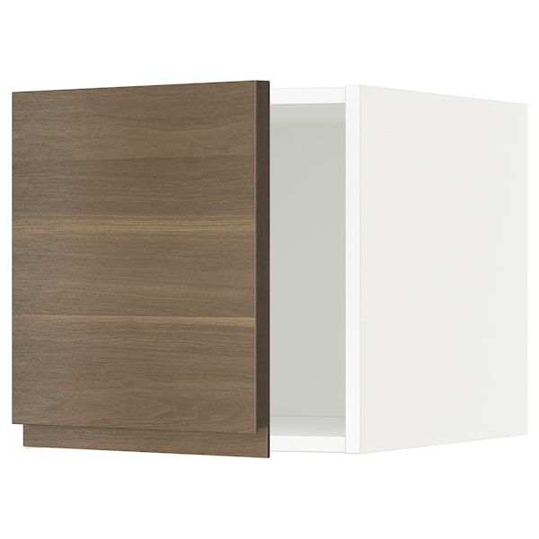 METOD Top cabinet, white/Voxtorp walnut effect, 40x40 cm