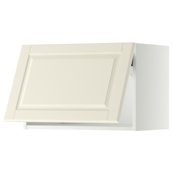 METOD Wall cabinet horizontal, white/Bodbyn off-white, 60x40 cm