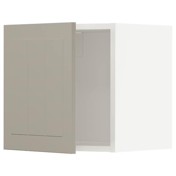 METOD Wall cabinet, white/Stensund beige, 40x40 cm