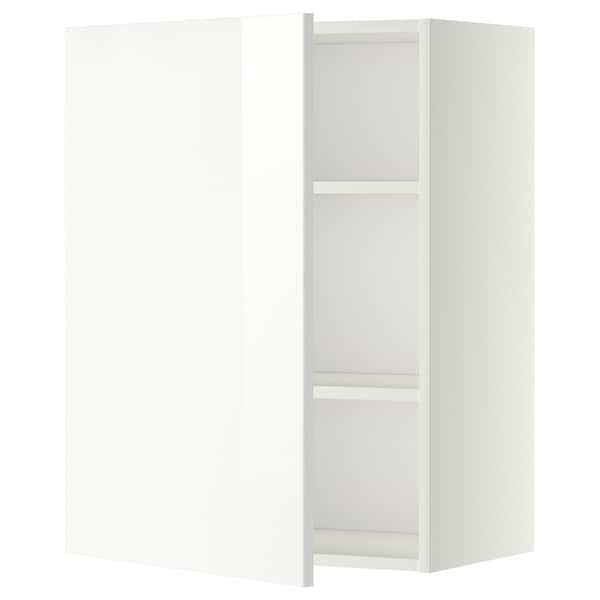 METOD خزانة حائط مع أرفف, أبيض/Ringhult أبيض, 60x80 سم