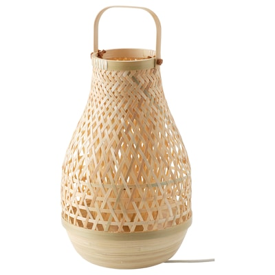 MISTERHULT Table lamp, bamboo, 36 cm