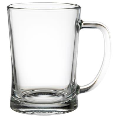 MJÖD كأس بمقبض, زجاج شفاف, 60 سل