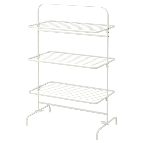 MULIG Drying rack 3 levels, in/outdoor, white