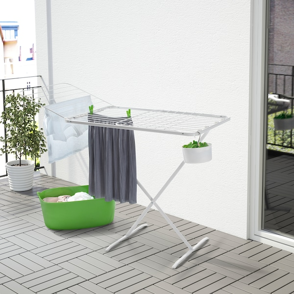 MULIG Drying rack, in/outdoor, white