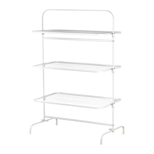 MULIG Drying rack 3 levels, in/outdoor   Suitable for both indoor and outdoor use.