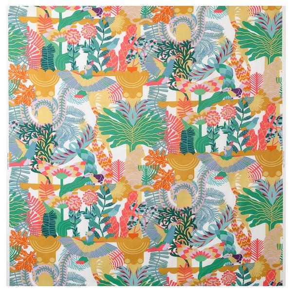 NÄBBFLY fabric white/multicolour 230 g/m² 150 cm