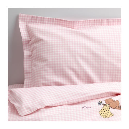 NANIG 3-piece bedlinen set for cot   Made of cotton and lyocell, both natural materials that are soft against the skin.