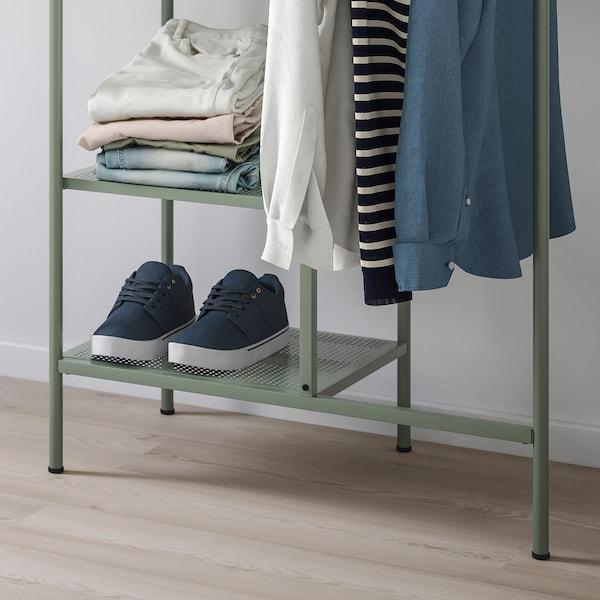 NIKKEBY clothes rack grey-green 80 cm 40 cm 170 cm