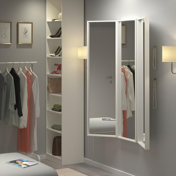 NISSEDAL Mirror combination, white, 130x150 cm
