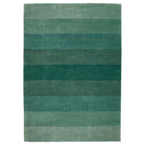 NÖDEBO rug, low pile handmade/green 240 cm 170 cm 4.08 m² 3010 g/m² 2400 g/m² 7 mm