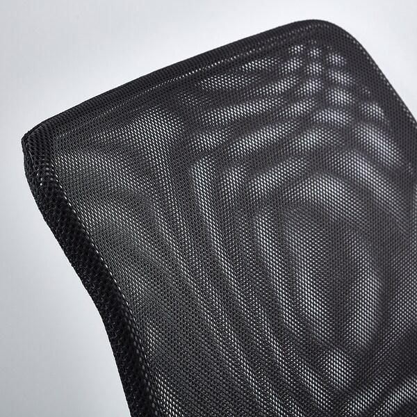 NOLMYRA كرسي مريح, أسود/أسود