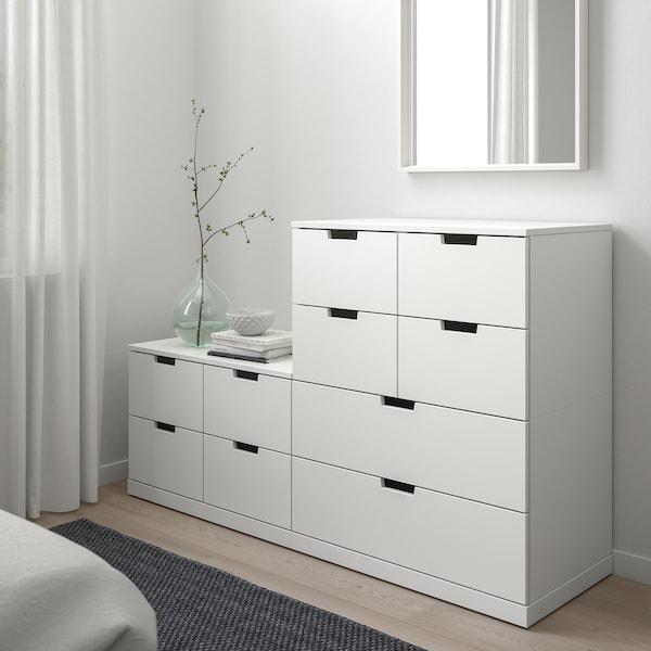 NORDLI خزانة بـ10 أدراج, أبيض, 160x99 سم