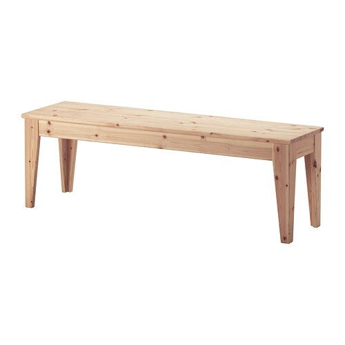 NORNÄS Bench   Solid pine is a natural material which ages beautifully and gains its own unique character over time.