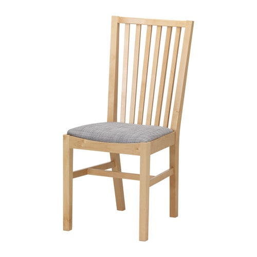 NORRNÄS Chair   Solid birch is a hardwearing natural material.  You sit comfortably thanks to the high shaped back.