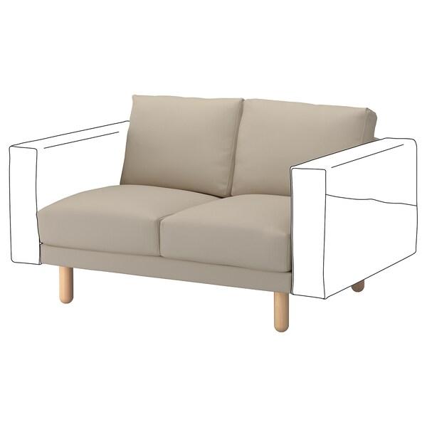 NORSBORG 2-seat section Edum beige/birch 121 cm 88 cm 85 cm 18 cm 60 cm 43 cm