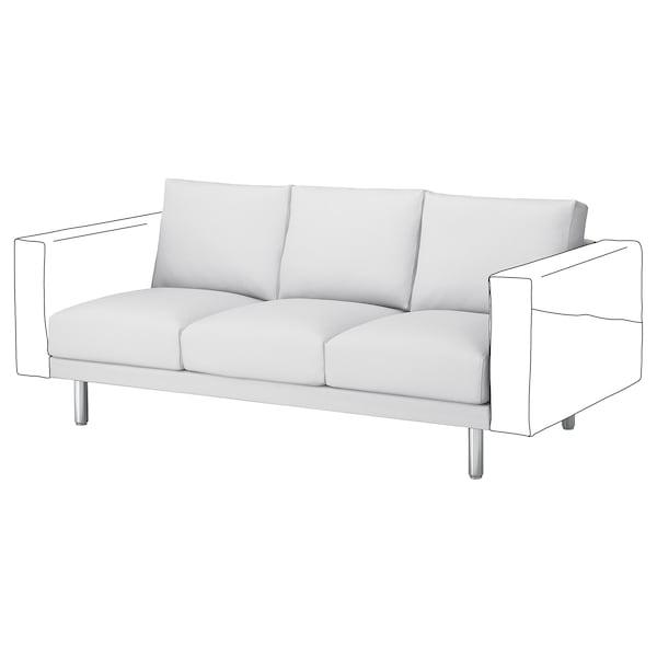 NORSBORG قسم 3 مقاعد, Finnsta أبيض/معدن