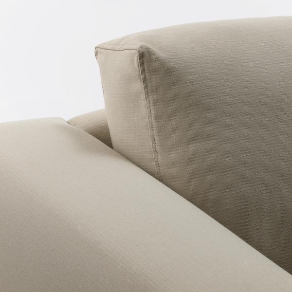NORSBORG 4-seat sofa, with chaise longues/Edum beige/birch