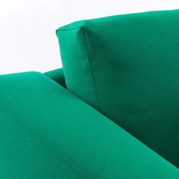 NORSBORG Corner sofa, 4-seat, Edum bright green/birch