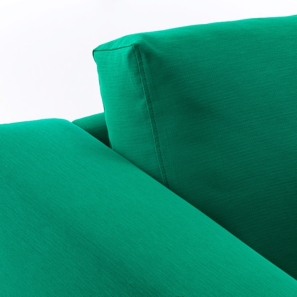 NORSBORG Corner sofa, 5-seat, with chaise longue/Edum bright green/metal