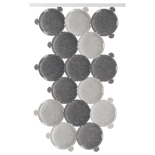 ODDLAUG sound absorbing panel grey 100 cm 50 cm 17 cm 1.5 cm 0.60 kg 15 pieces
