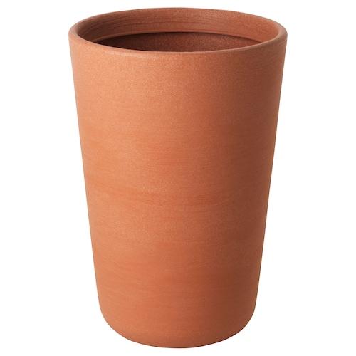 ÖSTLIG plant pot in/outdoor red-brown 50 cm 34 cm 32 cm