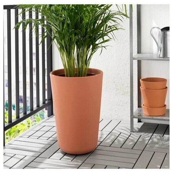 ÖSTLIG Plant pot, in/outdoor red-brown, 32 cm