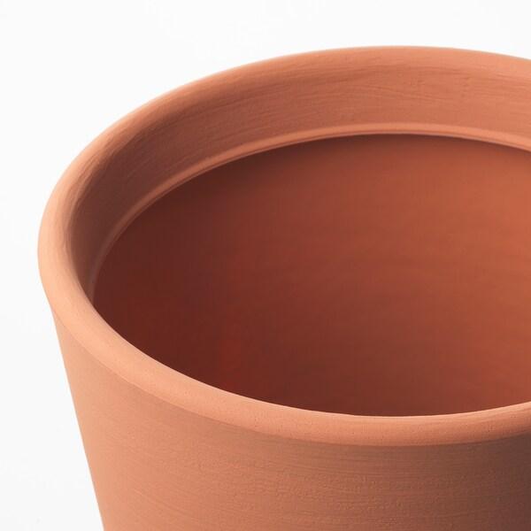 ÖSTLIG Plant pot, in/outdoor red-brown, 30 cm