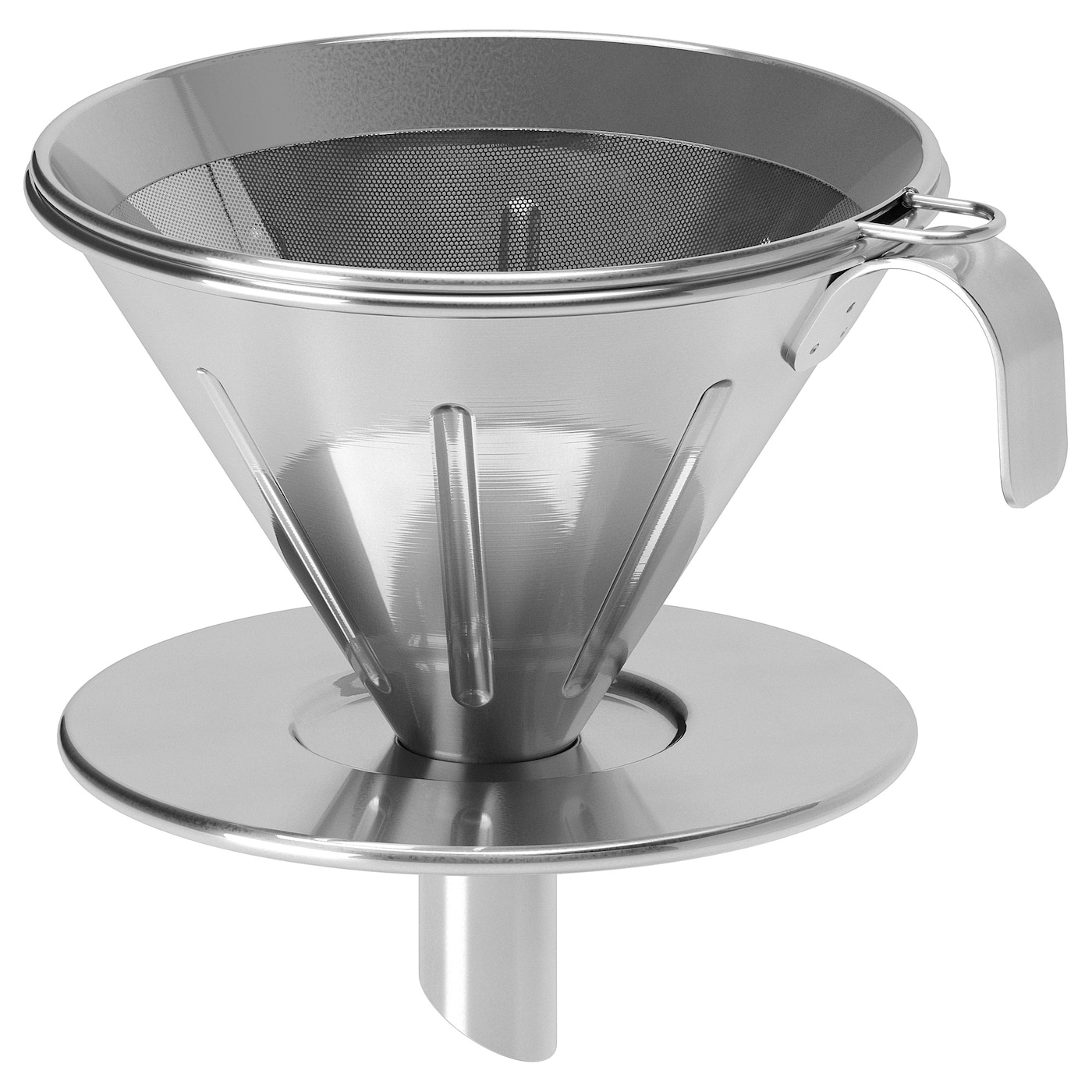 214 Verst 3 Piece Metal Filter Coffee Set Stainless Steel