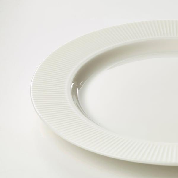 OFANTLIGT Side plate, white, 22 cm