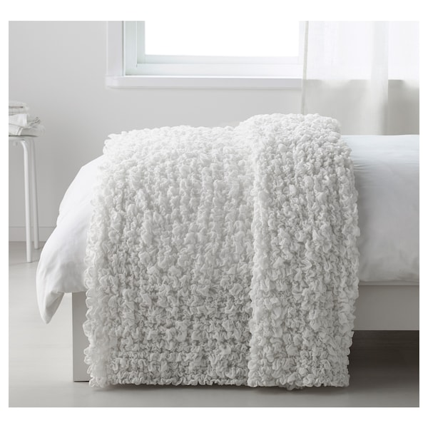 OFELIA Blanket, white, 130x170 cm