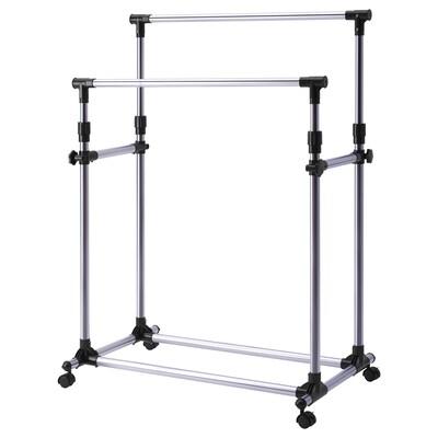 OLEBY Clothes rack, silver-colour, 87x57 cm