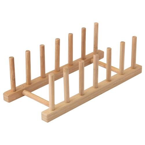 OSTBIT plate holder bamboo 27.5 cm 12 cm 8.5 cm