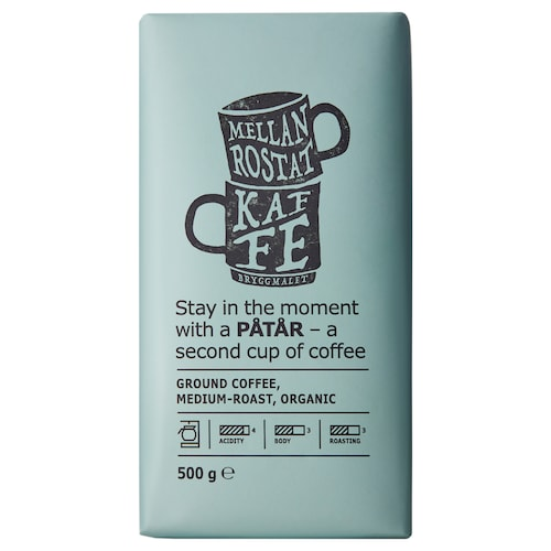 PÅTÅR filter coffee, medium roast organic/UTZ certified/100 % Arabica beans 500 g