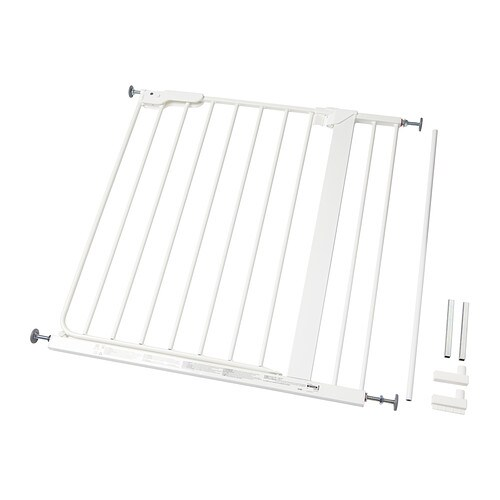 PATRULL KLÄMMA Safety gate   The gate is easy to install and requires no drilling.