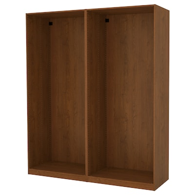 PAX 2 wardrobe frames, brown stained ash effect, 200x58x236 cm