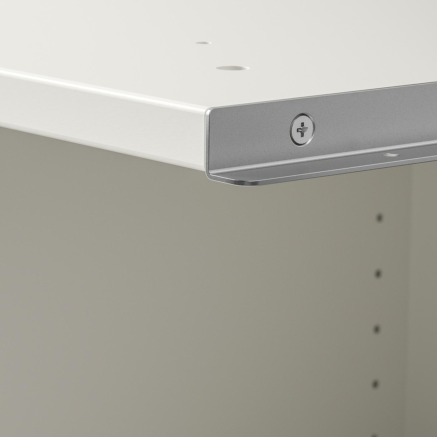 PAX Add-on corner unit with 4 shelves, white, 53x58x236 cm