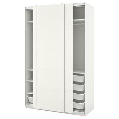 PAX / BERGSBO Wardrobe combination, white, 150x66x236 cm