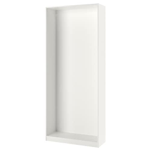 PAX wardrobe frame white 99.8 cm 100 cm 35.5 cm 236.4 cm 35 cm 236 cm