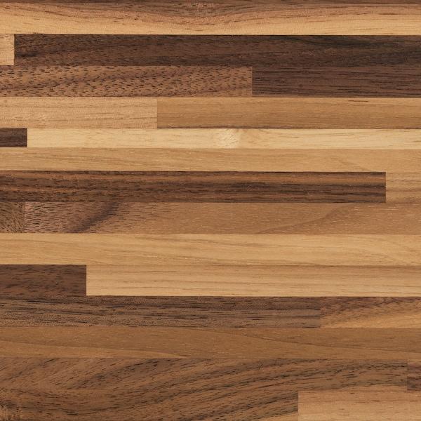 PINNARP worktop walnut/veneer 3 mm 246 cm 63.5 cm 3.8 cm
