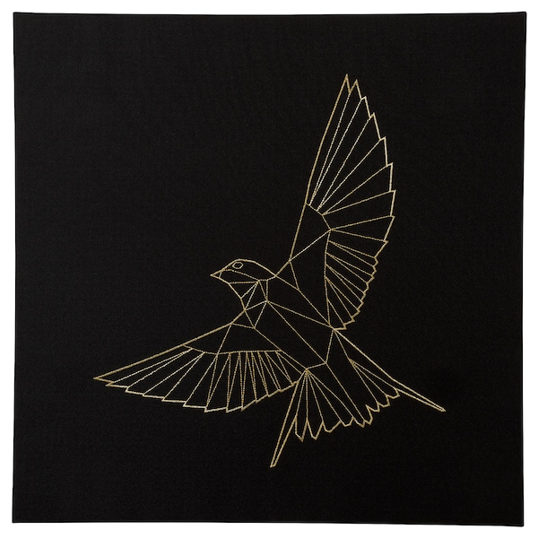 PJÄTTERYD Picture, Golden bird, 56x56 cm