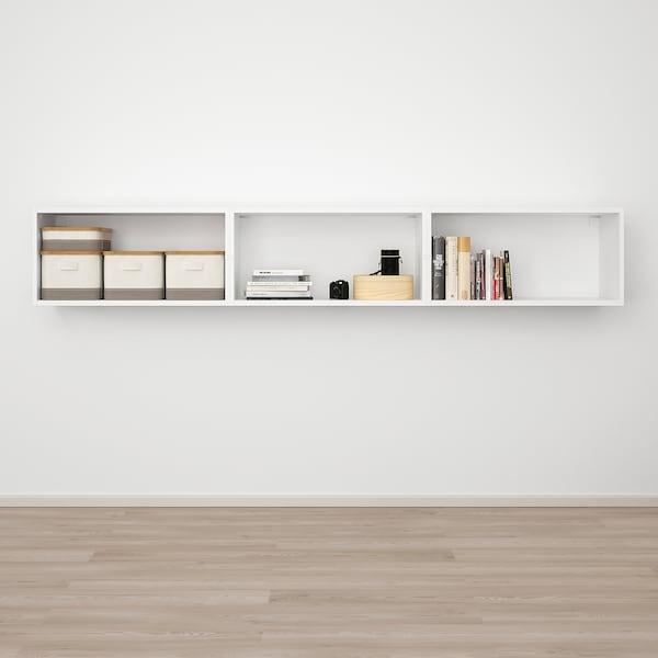 PLATSA Wall storage, white/Fonnes white, 240x42x40 cm