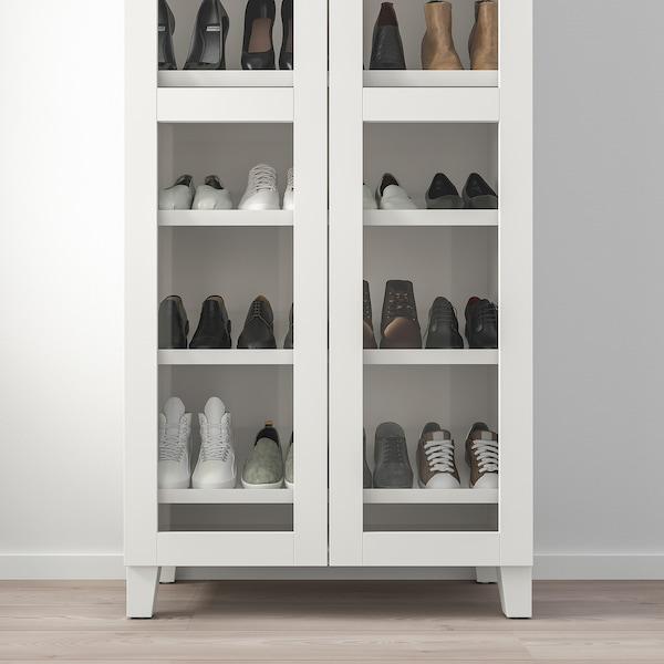 PLATSA Wardrobe with shoe shelf, white/Värd white, 80x42x191 cm