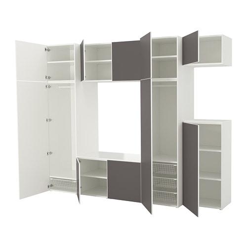 Ikea Hopen Guardaroba.Platsa Wardrobe White Skatval Dark Grey