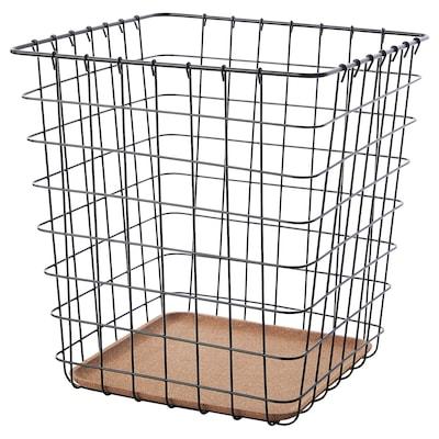 PLEJA Wastepaper basket, black, 20 l