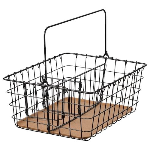 PLEJA wire basket with handle black 36 cm 27 cm 15 cm