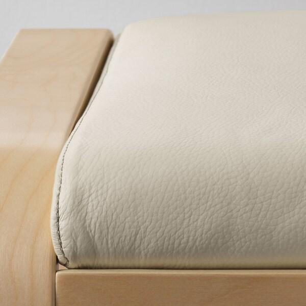 POÄNG Footstool, birch veneer/Glose eggshell