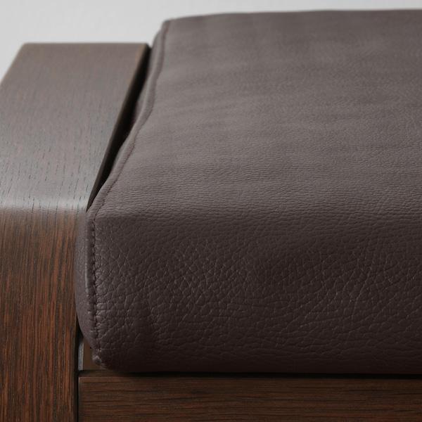 POÄNG Footstool, brown/Glose dark brown