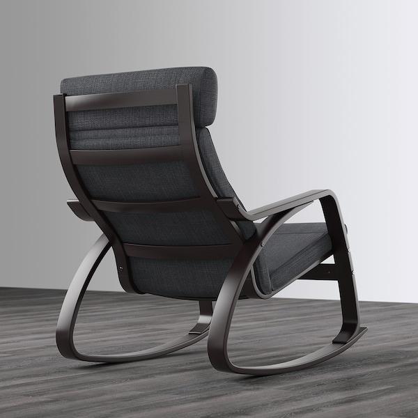 POÄNG Rocking-chair, black-brown/Hillared anthracite