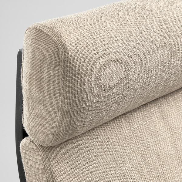 POÄNG Rocking-chair, black-brown/Hillared beige