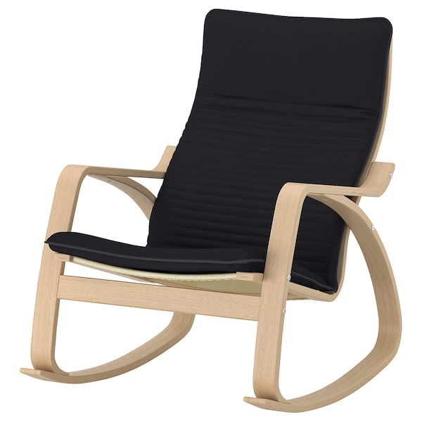Po 196 Ng Rocking Chair White Stained Oak Veneer Knisa